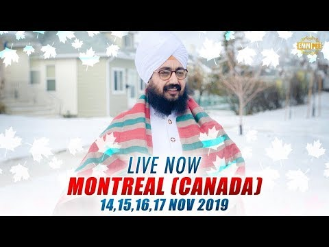 Live Streaming | 🇨🇦Montreal QC Canada 🇨🇦| 17 Nov 2019 | Dhadrianwale