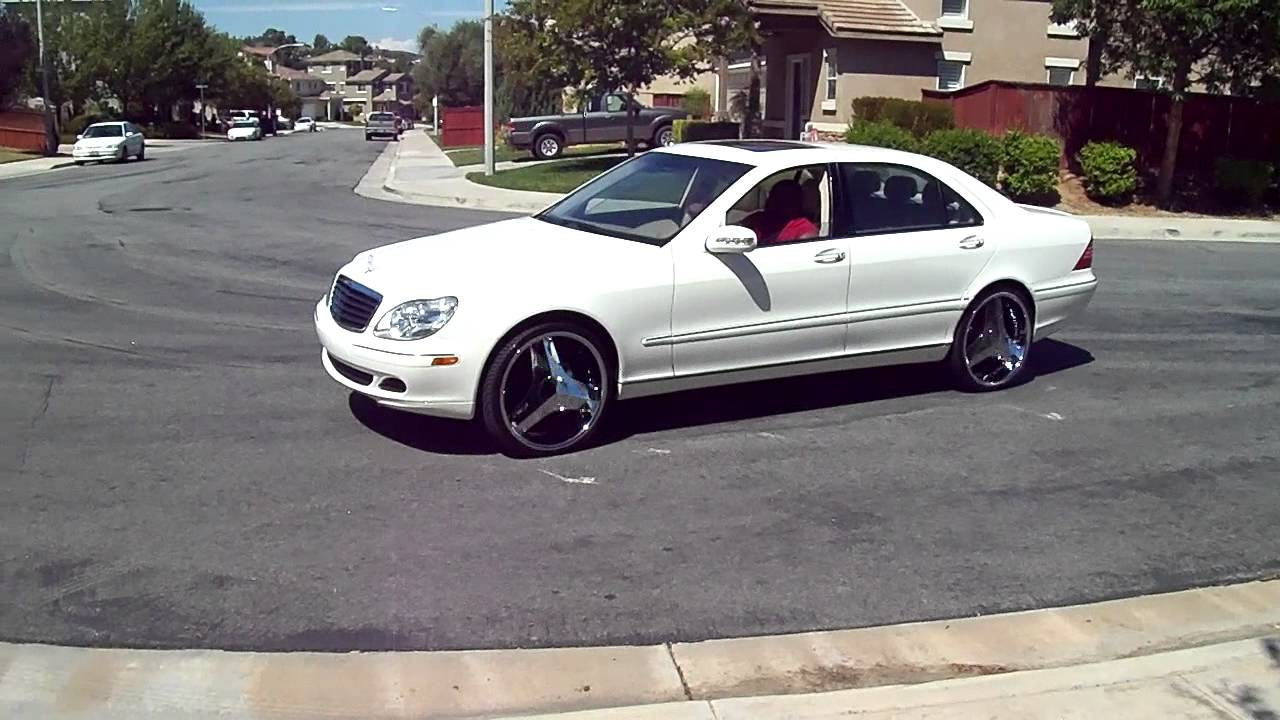 White Mercedes Benz W220 On 22 Quot Rims Blades Youtube