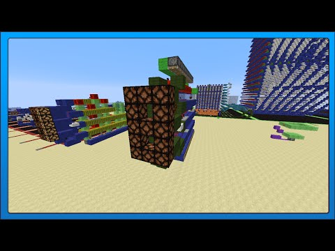 [Minecraft Tech] Compact Redstone 7 Segment Display (3 Wide)