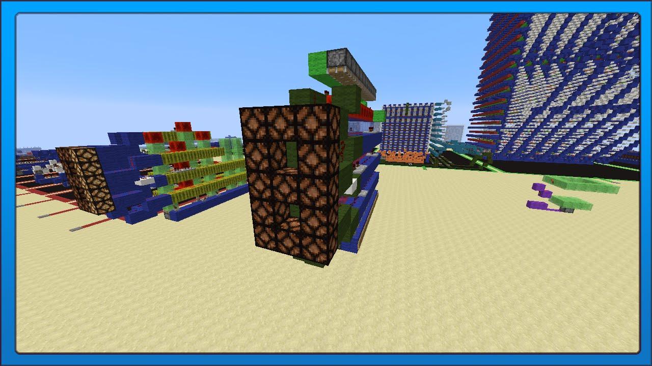 Minecraft Tech Compact Redstone 7 Segment Display 3 Wide Youtube