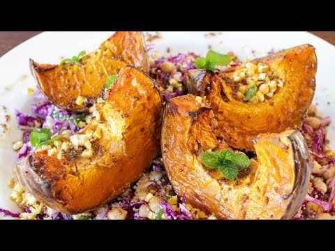 Roasted Pumpkin Corn Chickpea Salad