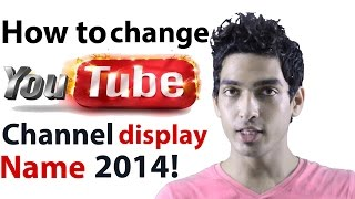 Video How to change youtube channel display name [NEW 2014] download MP3, 3GP, MP4, WEBM, AVI, FLV Maret 2018