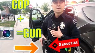 YOUR BEING SUSPICIOUS RIGHT NOW COPS OWNED I DON'T ANSWER QUESTIONS FIRST AMENDMENT AUDIT