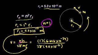 Bohr model radii | Electronic structure of atoms | Chemistry | Khan Academy