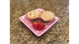 Strawberry White Chocolate Chip Coffee Cake Muffins - Lynn's Recipes - Mother's Day