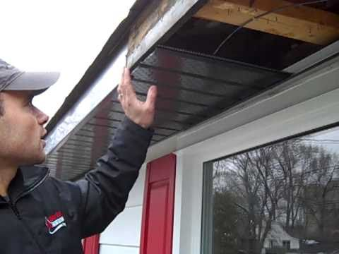 Installing Rafter Vents In Soffits Youtube