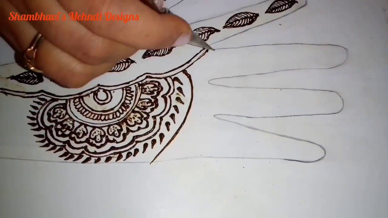 Simple Leafy Mehndi Design For Hands Easy To Draw Mehandi Design