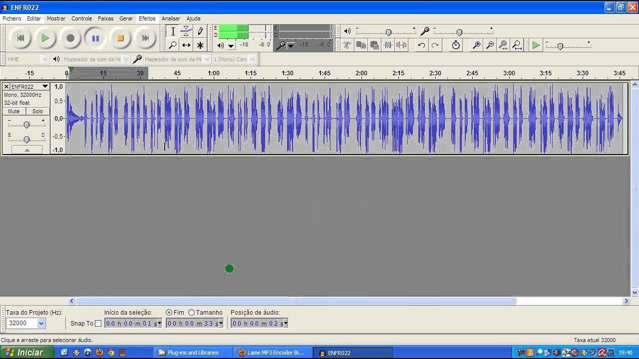 o programa audacity em portugues