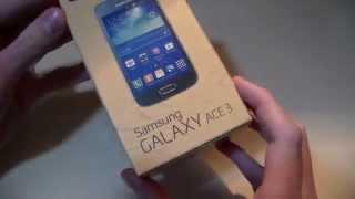 Распаковка Samsung Galaxy Ace 3 (Unboxing)
