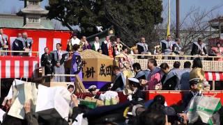 平成23年2月3日(木)、大阪府寝屋川市の成田山不動尊で行われた節分祭...