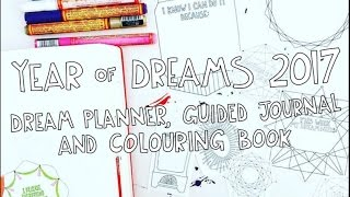 year of dreams 2017 dream planner guided journal and coloring book