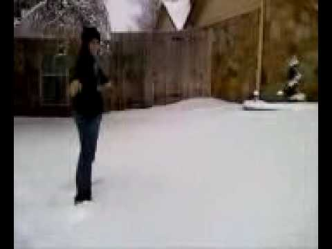 Me and my friend... falling face-first in the snow. - YouTube