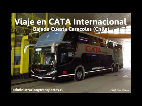 Bajando La Cuesta Caracoles En Cata Internacional (Paso Los Libertadores, Chile)