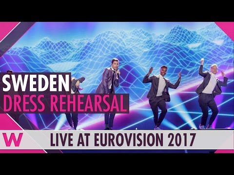"Sweden: Robin Bengtsson ""I Can't Go On"" semi-final 1 dress rehearsal @ Eurovision 2017"