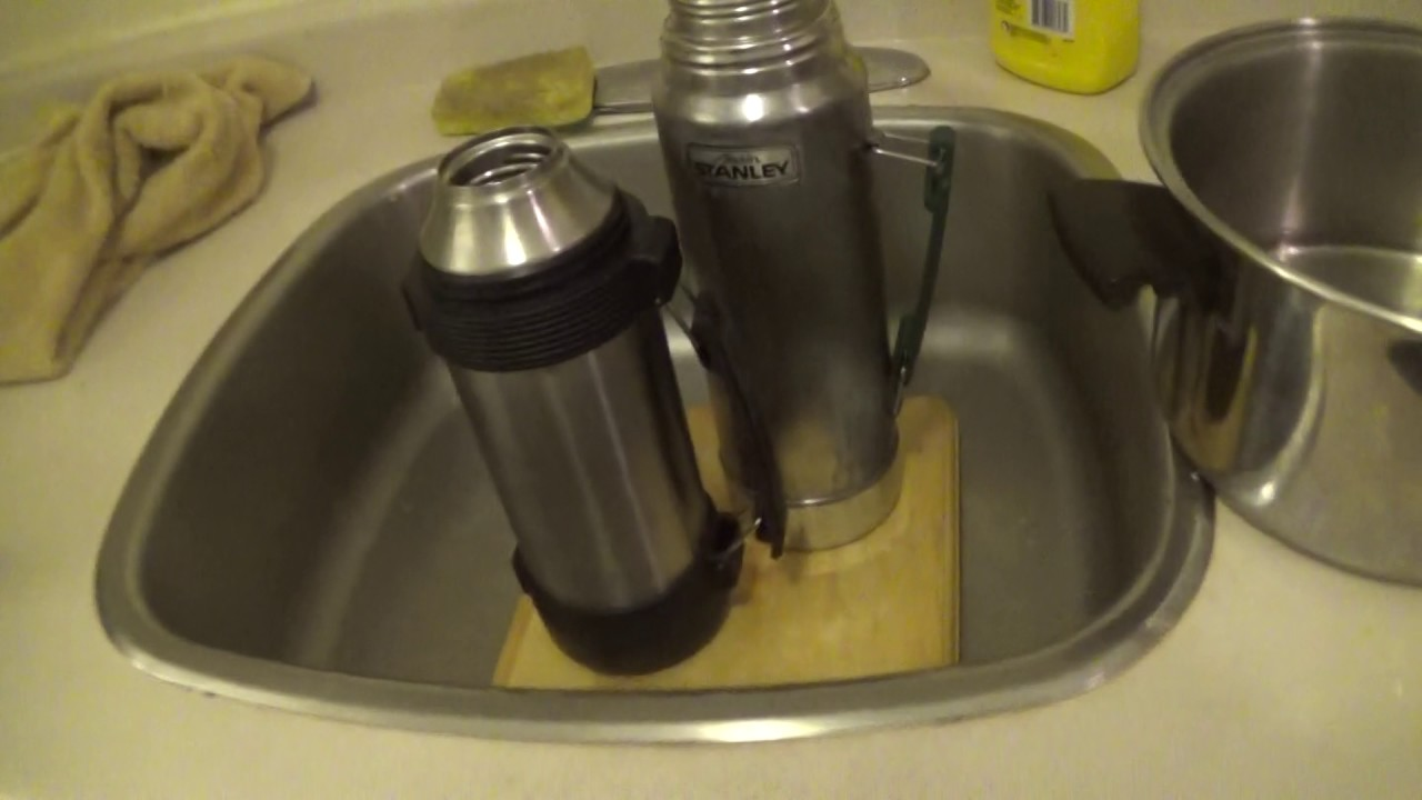 How to clean a stainless steel thermos from tea raid and smell 91