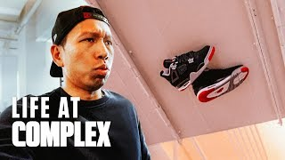 Sticking Your Air Jordan 4's To The Ceiling Trick | #LIFEATCOMPLEX