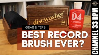 The best record cleaning brush ever made | ORIGINAL DISCWASHER D4 REVISITED