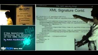 nullcon Goa 2014: O Dea Assertions Untwining the Security of the SAML protocol by Achin Kulshrestha