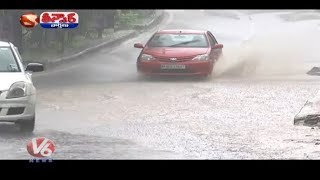 Telangana and Hyderabad Receiving Continuous Rains  Teenmaar News  V6 News
