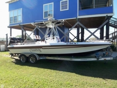 Sold used 2007 champion 24 bay cc twin engine in grand for Buy bass boat without motor