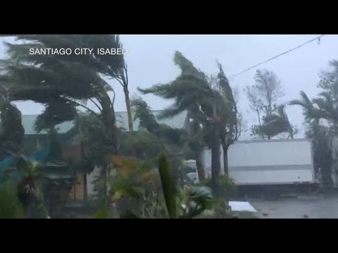 Typhoon 'Rosita' makes landfall in Dinapigue, Isabela