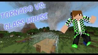Minecraft Tornado VS: Glass house VS. F1!