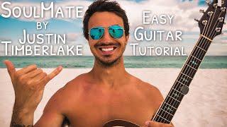 Download Lagu SoulMate Justin Timberlake Guitar Tutorial for Beginners // SoulMate Guitar // Guitar Lesson #520 Mp3