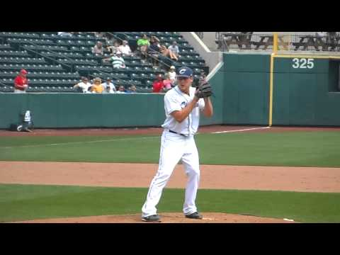 Columbus Clippers Nick Hagadone Warming Up in the 9th Inning vs. Norfolk Tides 8/20/2013