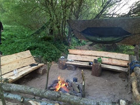 WILD BEACH HAMMOCK CAMPING AND CAMP BUILDING