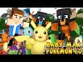 Minecraft - POKEMON GO WITH BABY MAX AND BABY LEAH !! - Little Baby Max -