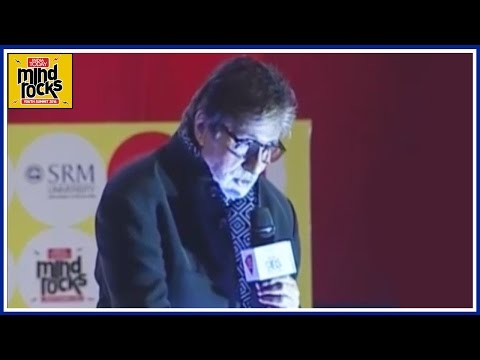 Mind rocks 2016 : Amitabh Bachchan Delivers A Dialogue From The Movie Silsila