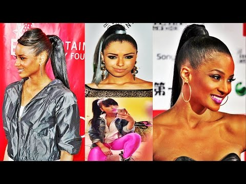 quick-weave-ponytail-hairstyles-with-highlight-for-african-american-women