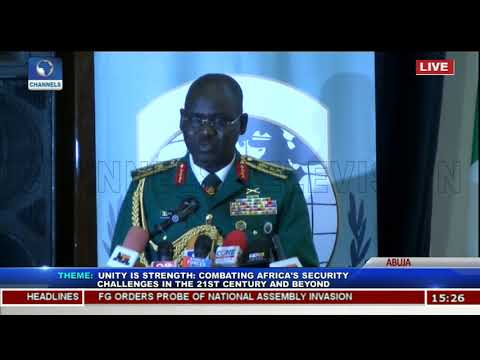 Buratai,Olonishakin,Lebeuf Charge Officers On Terrorism Fight Pt 3 | African Land Forces Summit |