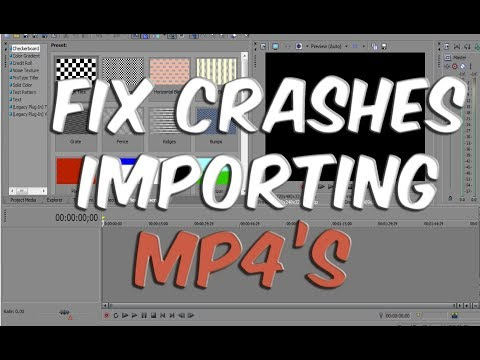 How to Fix mp4 Crashes in Sony Vegas