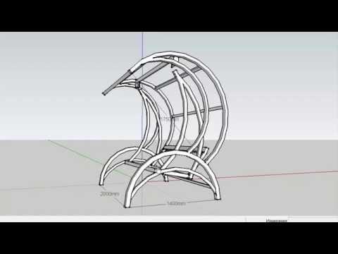 Садовые качели своими руками (3 часть) 3D Чертеж