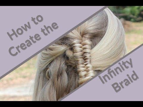 How To Create An Infinityfigure 8 Braid Hair Tutorial Youtube
