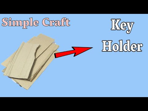 Best Out Of Waste | Easy Craft Idea | Make Key Holder From Cardboard | Best Out Of Waste