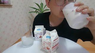 좋은아침 덴마크 드링킹 요구르트 딸기,베리믹스맛 우유 …