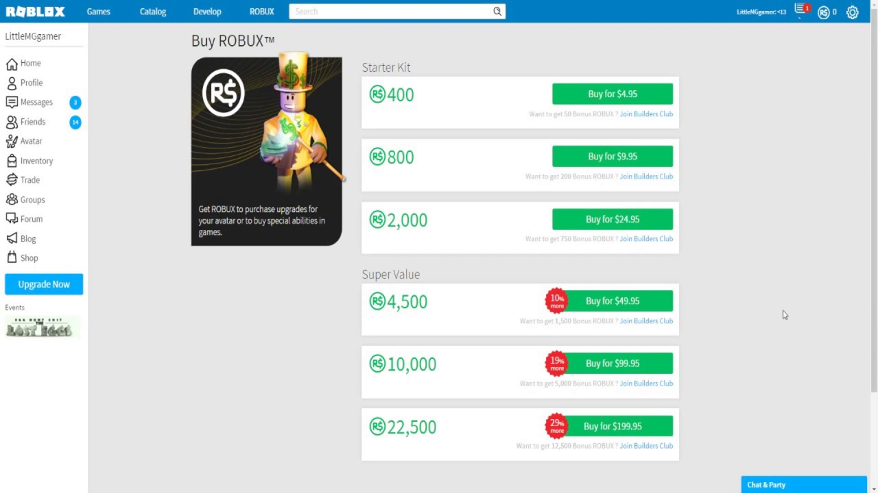 How To Buy (ROBUX) Roblox Money Game By Paypal [NO HACK ...