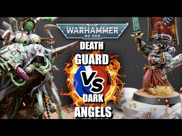 RAPPORT DE BATAILLE WARHAMMER 40.000- Death guard VS Dark angels - 2000pts