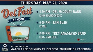 Cover images DelFest At Home: Del McCoury Band, Sam Bush & Trey Anastasio Band