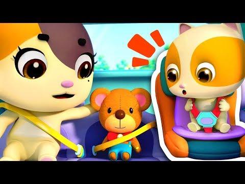 안전벨트 풀면 안돼요!위험해요~!|안전교육동요|고양이 가족|색깔놀이|어린이 애니메이션|베이비버스 동요|BabyBus