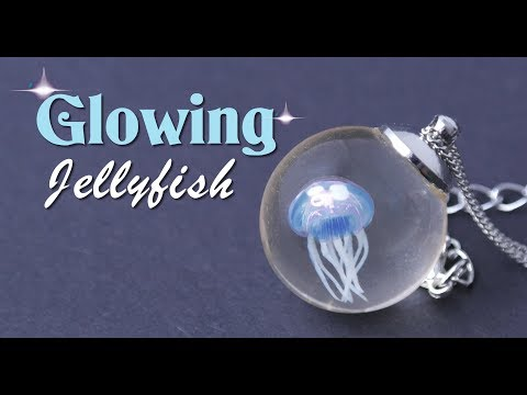 HOW TO MAKE THIS GLOW IN THE DARK JELLYFISH SPHERE PENDANT