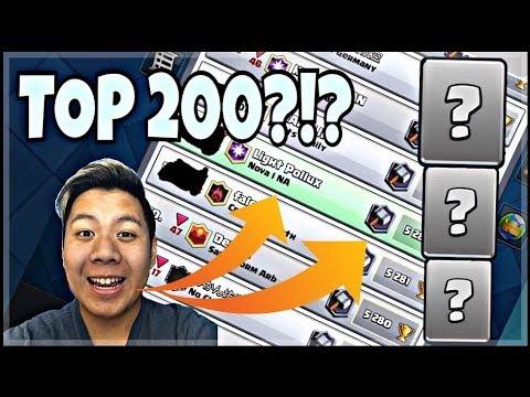 Vais-Je Atteindre Le TOP 200 Mondial? Rush Ladder à 5200+! - Clash Royale
