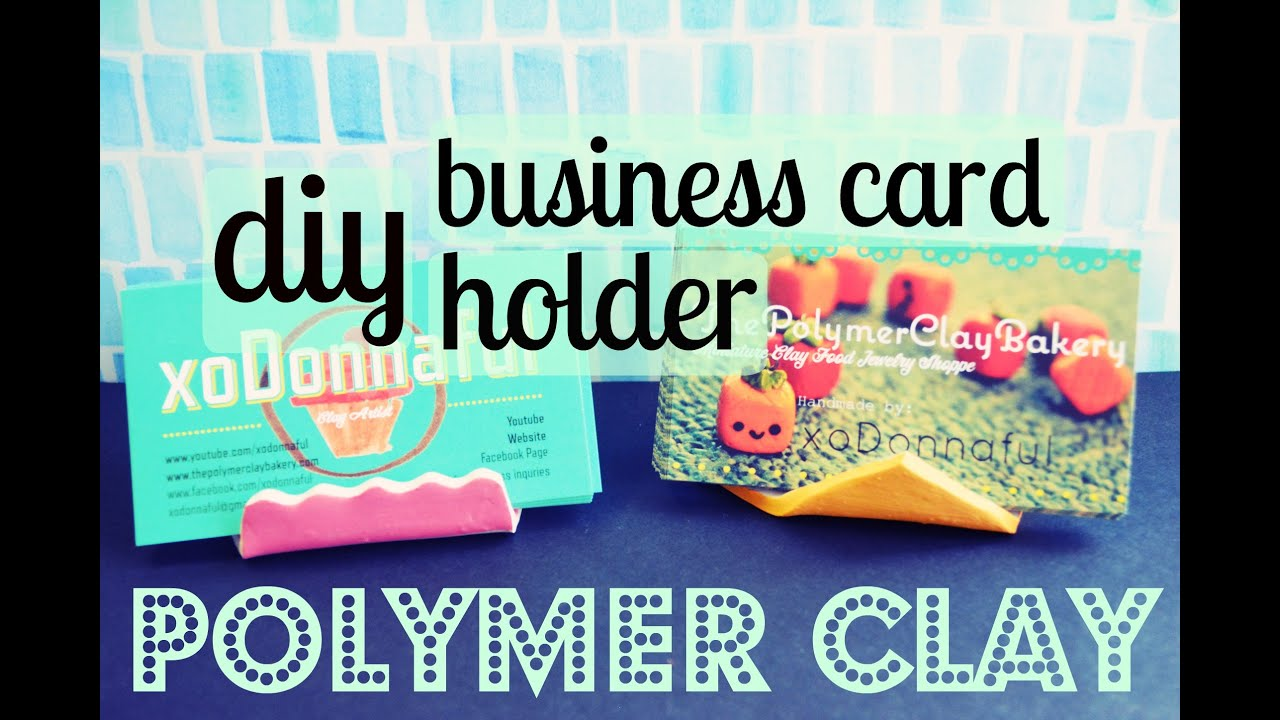 Diy polymerclay business card holder youtube diy polymerclay business card holder colourmoves