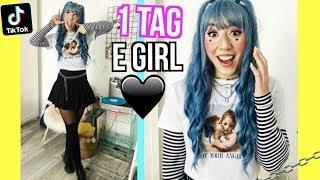 ich werde zum E GIRL für 1 TAG challenge (Leben TIKTOK Shopping Schminken Outfits Essen)