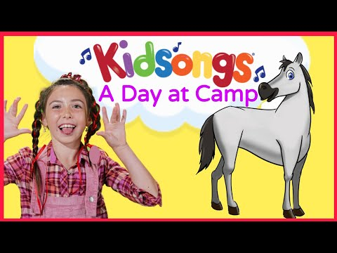 A Day At Camp by Kidsongs | Camp Songs for Kids | On Top of Spaghetti | Camp fire Songs  | PBS Kids