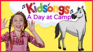 A Day At Camp by Kidsongs | Camp Songs for Kids | Hokey Pokey Dance | Camp fire Songs  | PBS Kids