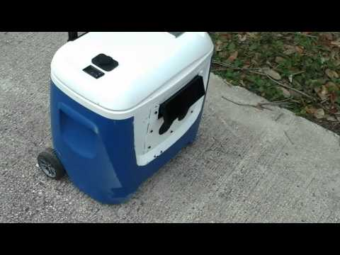 My homemade portable solar powered generator