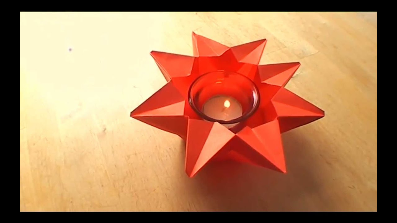How To Make An Origami Star Candle Holder Falte Dir